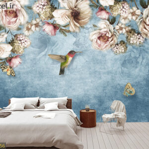 پوستر دیواری گل و پرنده DP-1356