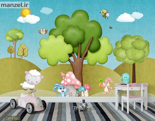 پوستر دیواری جنگل کارتونی DP-1362