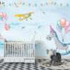 پوستر دیواری سوسمار و فیل کارتونی DP-1361