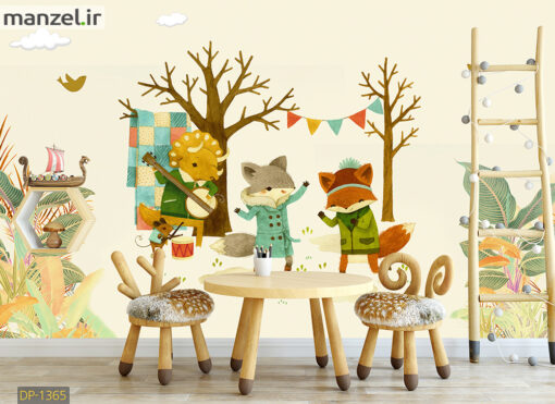 پوستر دیواری حیوانات کارتونی DP-1365