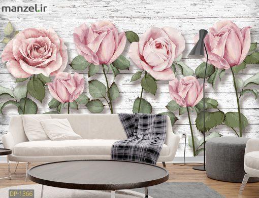 پوستر دیواری رزهای صورتی DP-1366