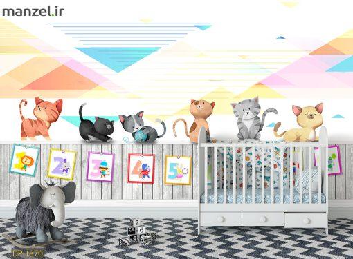 پوستر دیواری گربه های کارتونی DP-1370