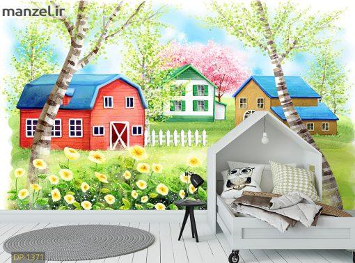 پوستر دیواری خانه های کارتونی DP-1371
