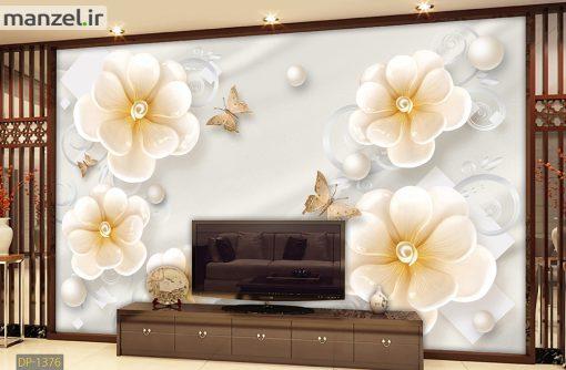 پوستر دیواری گل و مروارید DP-1376