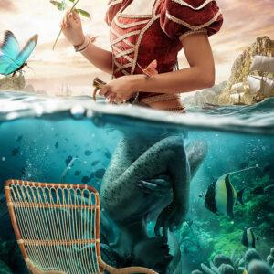 پوستر دیواری فرشته و دریا DA-1377