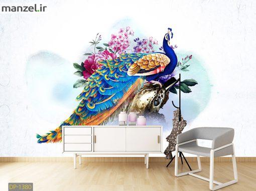 پوستر دیواری طاووس DP-1380