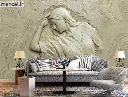 پوستر دیواری گچبری چهره DA-1384