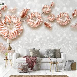 پوستر دیواری گل فلزی DP-1389