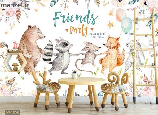 پوستر دیواری حیوانات کارتونی DP-1395