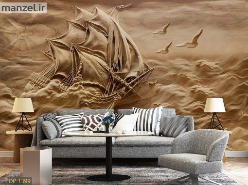 پوستر دیواری کشتی گچبری DP-1399