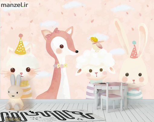 پوستر دیواری حیوانات کارتونی DA-1402