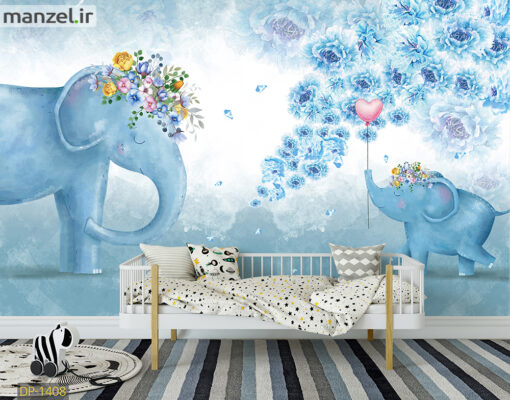 پوستر دیواری فیل کارتونی DP-1408