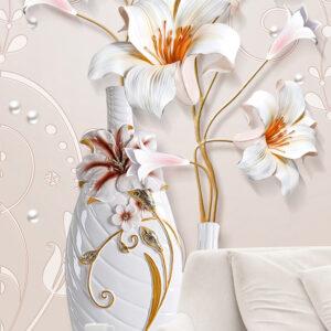 پوستر دیواری گل و گلدان DP-1411