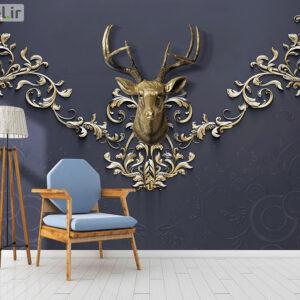پوستر دیواری گوزن لاکچری DP-1412