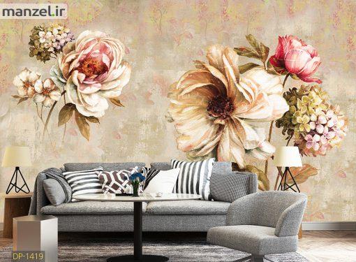 پوستر دیواری گل کلاسیک DP-1419