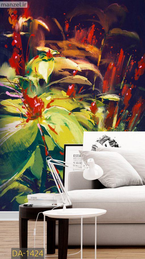 پوستر دیواری نقاشی گل DA-1424