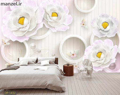پوستر دیواری گل و حلقه DP-1432