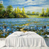 پوستر دیواری گل های رومانتیک صورتی DP-1430
