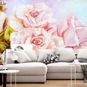 پوستر دیواری گل صورتی DA-1436