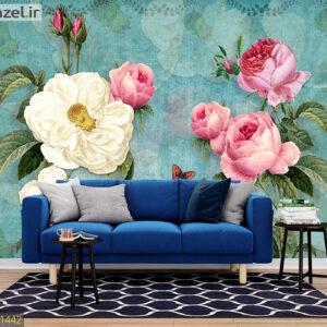 پوستر دیواری هنری طرح گل DP-1442