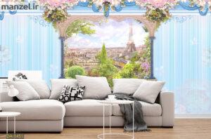 پوستر دیواری پنجره رو به ایفل DA-1451