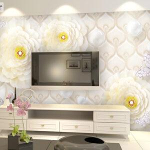پوستر دیواری گل سفید DP-1457