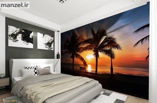 پوستر دیواری غروب و ساحل DA-1465