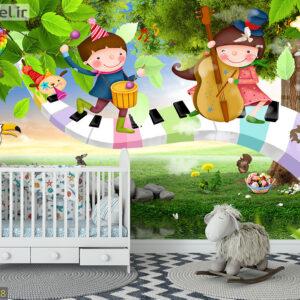 پوستر دیواری موسیقی کودکان DP-1468