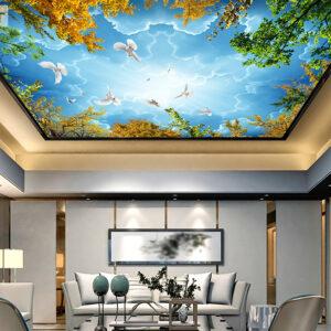 پوستر دیواری آسمان پرنده درخت DP-1487