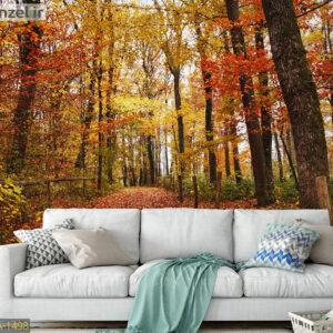 پوستر دیواری جنگل پاییزی DA-1498