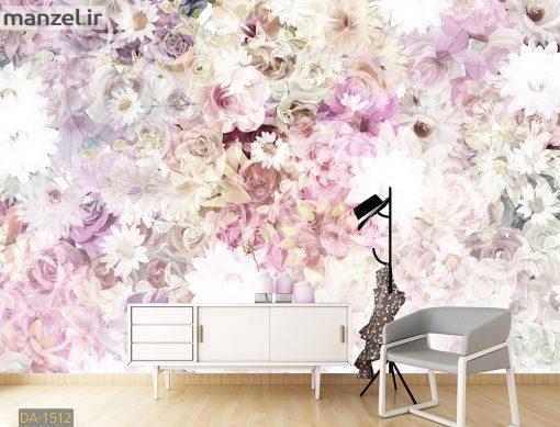 پوستر دیواری گل های طبیعی DA-1512