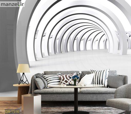 پوستر دیواری تونل سفید DA-1516