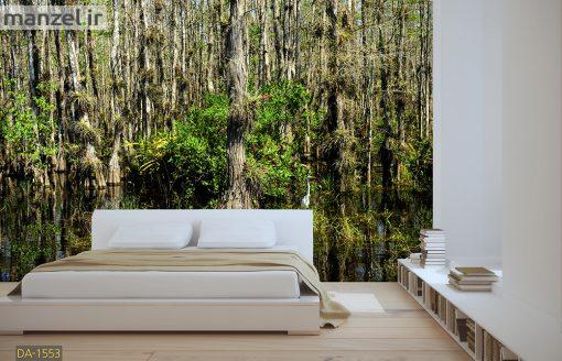 پوستر دیواری جنگل و برکه DA-1553
