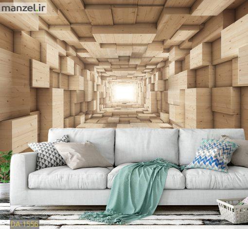 پوستر دیواری تونل چوبی DA-1556