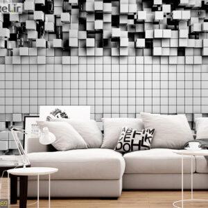 پوستر دیواری مکعب های سه بعدی DA-1569