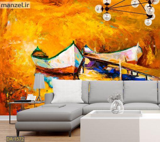 پوستر دیواری نقاشی قایق DA-1572