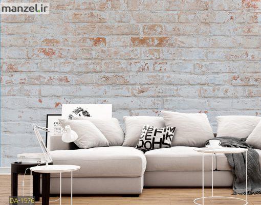 پوستر دیواری طرح آجر سفید DA-1576