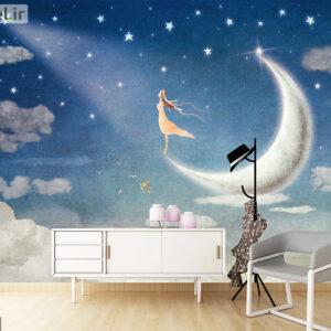 پوستر دیواری فرشته و ماه DA-1578