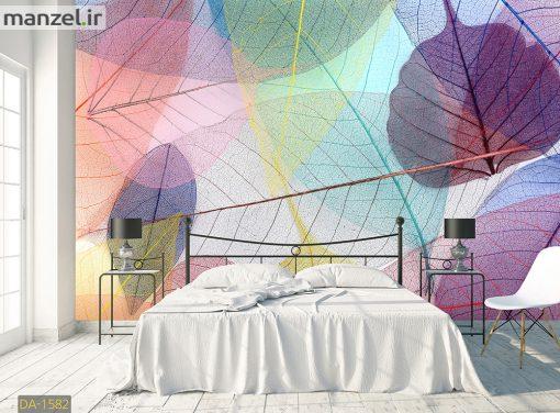 پوستر دیواری برگ های شفاف رنگی DA-1582