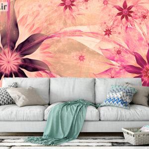 پوستر دیواری گل هنری صورتی DA-1592