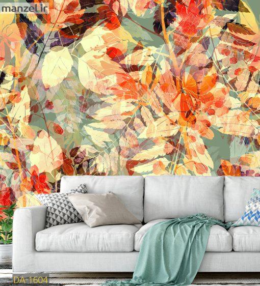پوستر دیواری برگ های پاییزی DA-1604