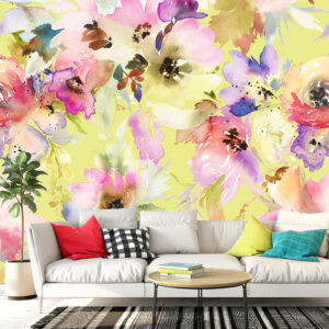 پوستر دیواری گل های آبرنگی DA-1625