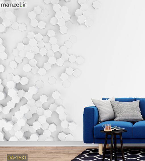 پوستر دیواری طرح شش ضلعی DA-1631