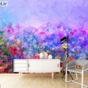 پوستر دیواری گل های آبرنگی DA-1640