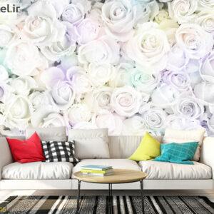 پوستر دیواری رزهای سفید DA-1646