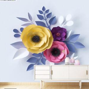 پوستر دیواری گل کاغذی رنگی DA-1656