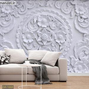 پوستر دیواری گچبری گل DA-1668