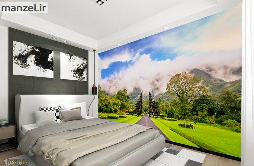 پوستر دیواری طبیعت کوهستانی DA-1677