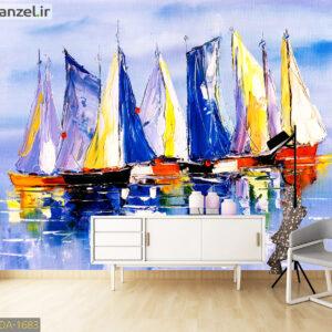 پوستر دیواری نقاشی قایق بادی DA-1683