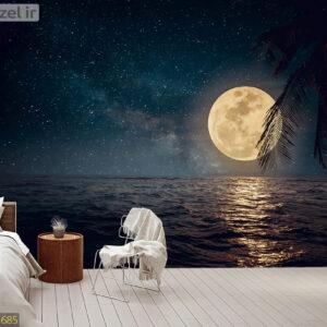 پوستر دیواری ماه و دریا DA-1685